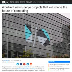 Google Project: Vault, Abacus, Soli, and Jacquard unveiled