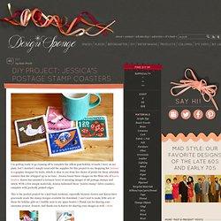 jessica's postage stamp coasters