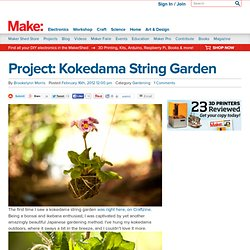 Project: Kokedama String Garden