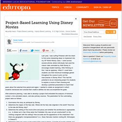 Project-Based Learning Using Disney Movies