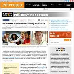 What Makes Project-Based Learning a Success?