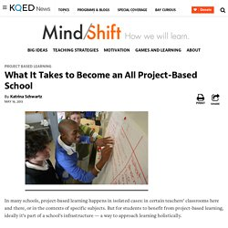 What It Takes to Become an All Project-Based School
