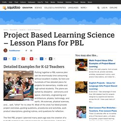 Project Based Learning Science – Lesson Plans for PBL