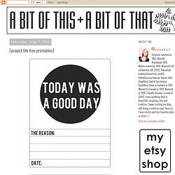 [project life free printables]