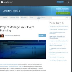Project Manage Your Event Planning