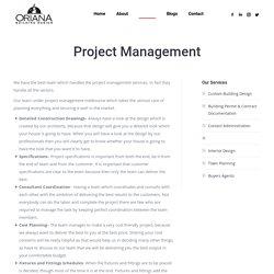 Project Management - Oriana Building Design