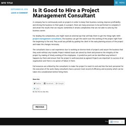 Is it Good to Hire a Project Management Consultant
