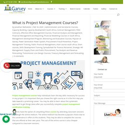 What is Project Management Courses?