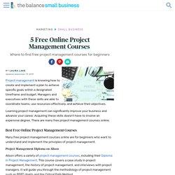 Five Free Online Project Management Courses
