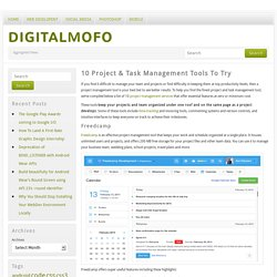 10 Project & Task Management Tools To Try