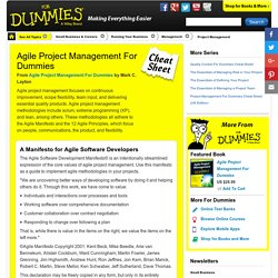 Agile Project Management For Dummies Cheat Sheet