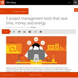 5 project management tools that save time, money and energy