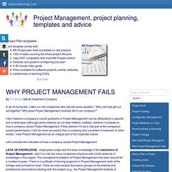 Why Project Management Fails - Project Management Value