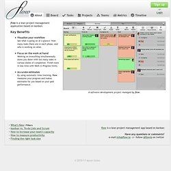 flow.io: Lean project management based on kanban