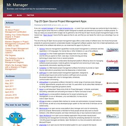 Top 25 Open Source Project Management Apps