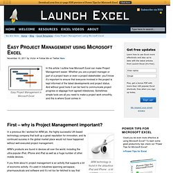 Easy Project Management using Microsoft Excel