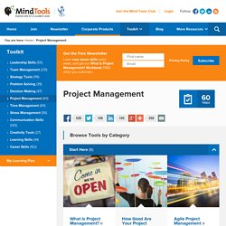 Project Management Tools from MindTools