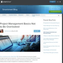 Project Management Basics Not to Be Overlooked