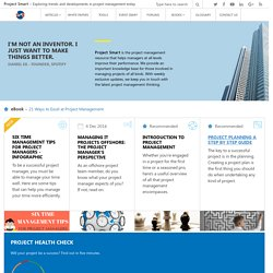 Project Management Templates Articles and Events: Project Smart
