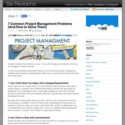 7 Common Project Management Problems (And How to Solve Them)