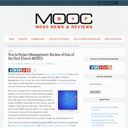 Vive le Project Management: Review of One of the First French MOOCs