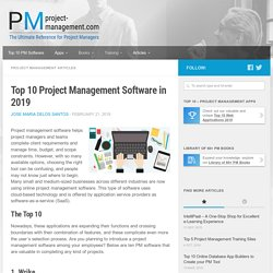 Top 10 Best Project Management Software & Tools in 2019