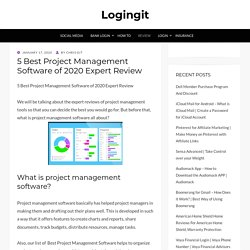 5 Best Project Management Software of 2020 Expert Review