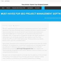 Must-haves for SEO Project Management Software