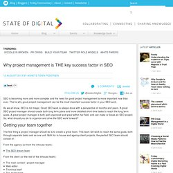 Why project management is THE key success factor in SEO