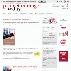 Project Manager Today - for all your project management needs