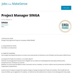 Project Manager SINGA