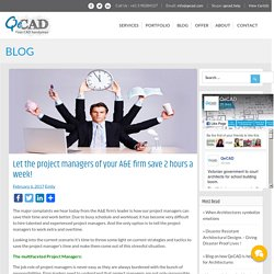 Let the project managers of your A&E firm save 2 hours a week!