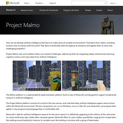 Project Malmo - Microsoft Research