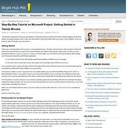 How To Start a Project in Microsoft Project: A Step By Step Tutorial