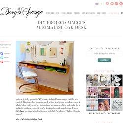 maggi's minimalist oak desk