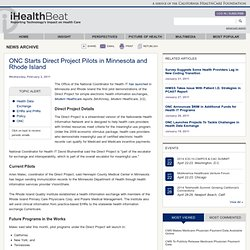 ONC Starts Direct Project Pilots in Minnesota and Rhode Island
