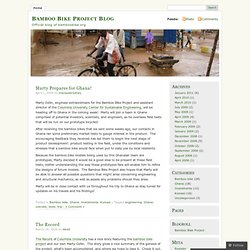 Bamboo Bike Project Blog