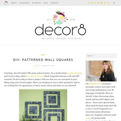 DIY Project: Patterned Wall Squares