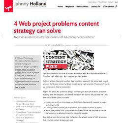 » 4 Web project problems content strategy can solve Johnny Holland – It's all about interaction » Blog Archive