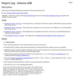 Project Log : Arduino USB - ProjectLogArduinoUSB