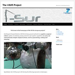 Welcome to the I-SUR project website