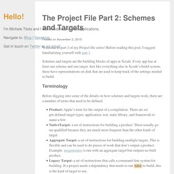 The Project File Part 2: Schemes and Targets · Michele Titolo
