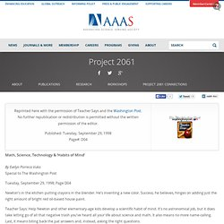 AAAS - Project 2061 - Math, Science, Technology and 'Habits of Mind'