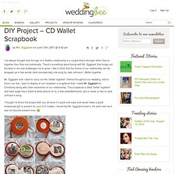 DIY Project – CD Wallet Scrapbook