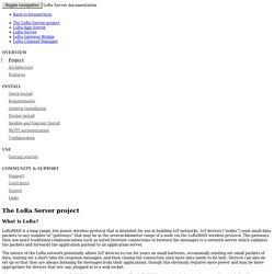 Project - LoRa Server documentation