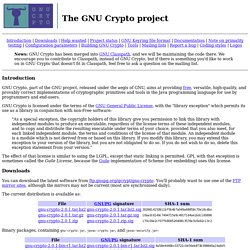 GNU Crypto - GNU Project - Free Software Foundation