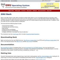 BASH - GNU Project
