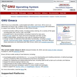 Emacs - GNU Project - Free Software Foundation (FSF) - Iceweasel