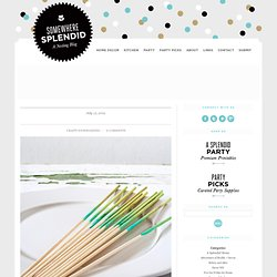 DIY Project: Ombre Dip Dyed Party Skewers | Somewhere Splendid