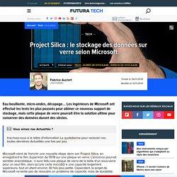 Project Silica : le stockage des données sur verre selon Microsoft